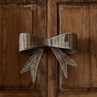 Stor sløjfe -Rustic Rattan Jacky Bow Door Decoration