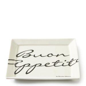 Tallerken - Buon Appetito Square Plate 18 x 18