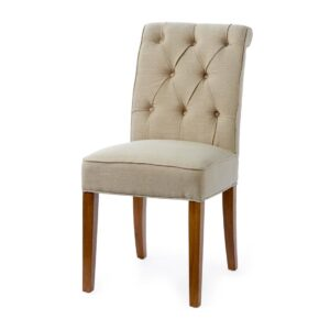 Tilbud - 8 stk. Hampton Classic Dining Chair, linen, flax