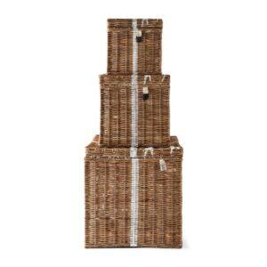 Opb. kurv Gavepakker - Rustic Rattan Pretty Present Basket S/3