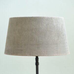 Lampeskærm - Lovely Rib Velvet Lampshade grey 28x38