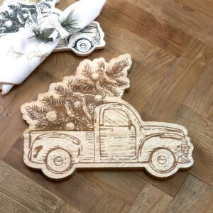 Skærebræt - Merry Christmas Car Chopping Board
