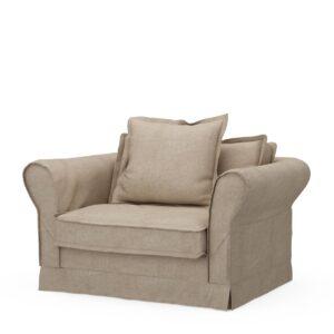 Loveseat - Carlton Love Seat, washed cotton, BESTILLINGSVARER