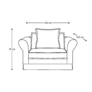 Loveseat - Carlton Love Seat, washed cotton, BESTILLINGSVARER