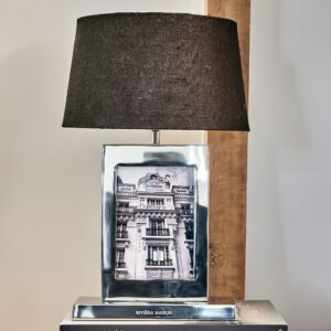 Bordlampe m. ramme - Classic Club Photo Frame Table Lamp