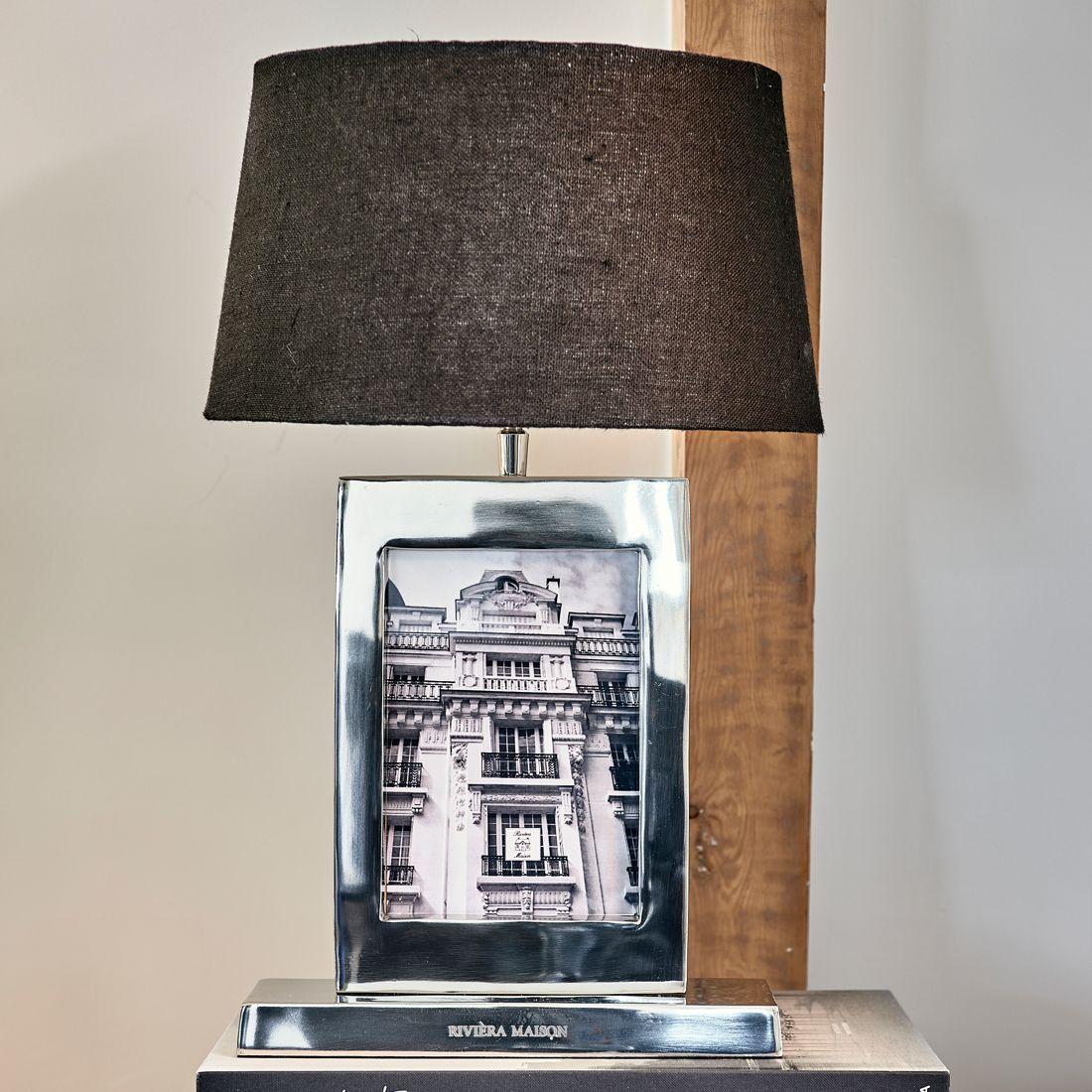 Bordlampe m. ramme - Classic Club Photo Frame Table Lamp