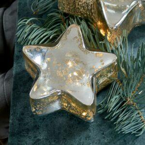 Stjernelys med LED lys - Sparkling Star Light S