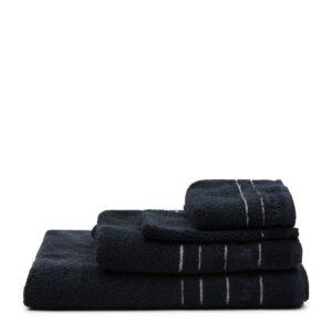 Håndklæde - RM Elegant Guest Towel black 50x30