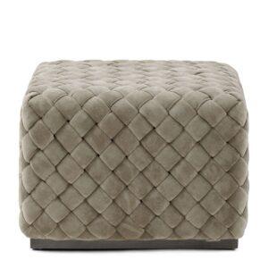 Puf - Room 48 Footstool, fine tweed, pebbles 60x60 cm