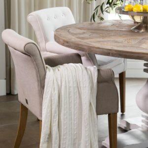 Spisebordsstol - La Scala Dining Armchair, Linen flax BESTILLINGSVARER