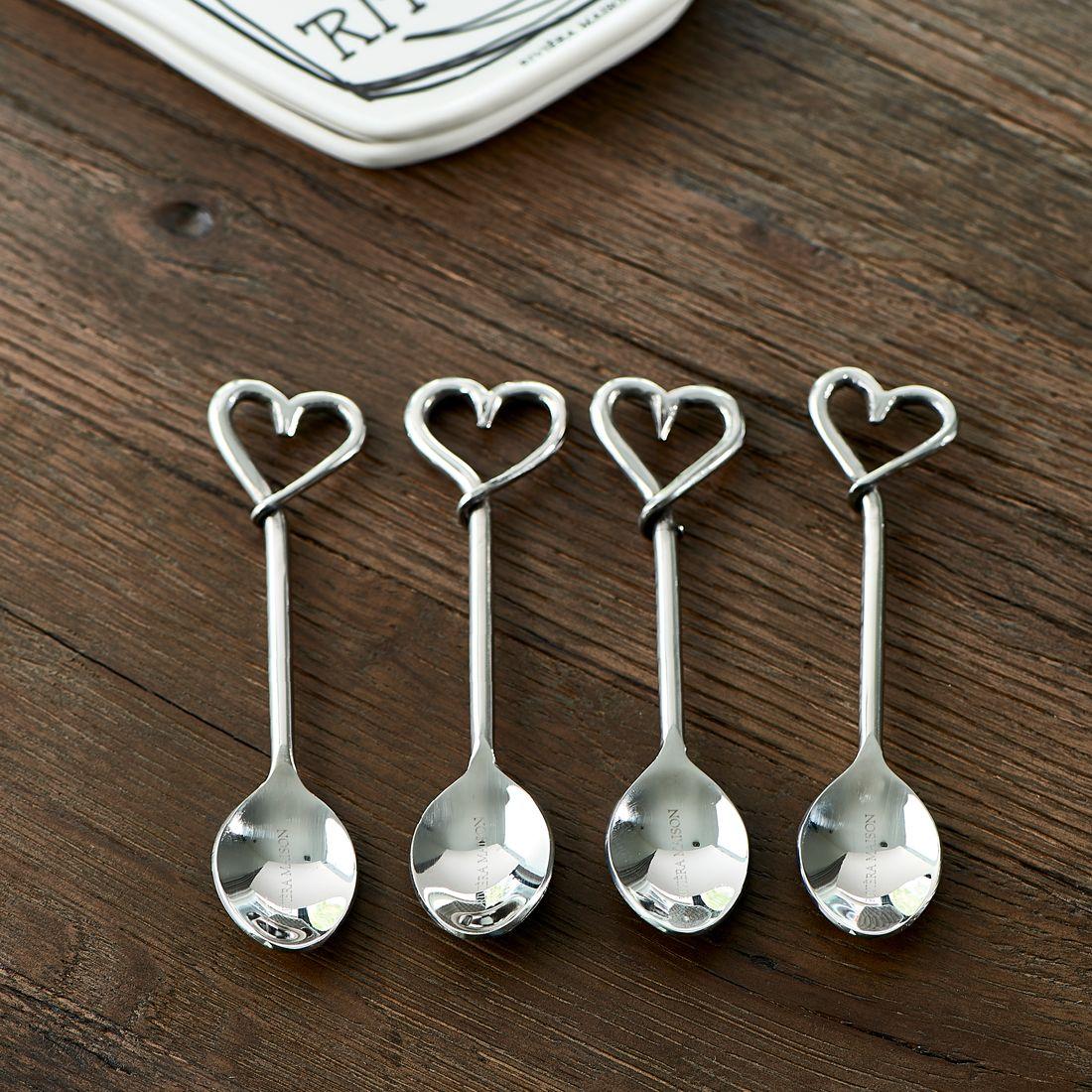 4 stk. skeer i gaveæske - With Love.. Spoons 4pcs
