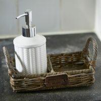Bakke - Rustic Rattan Soap Tray UDSOLGT, KOMMER IGEN
