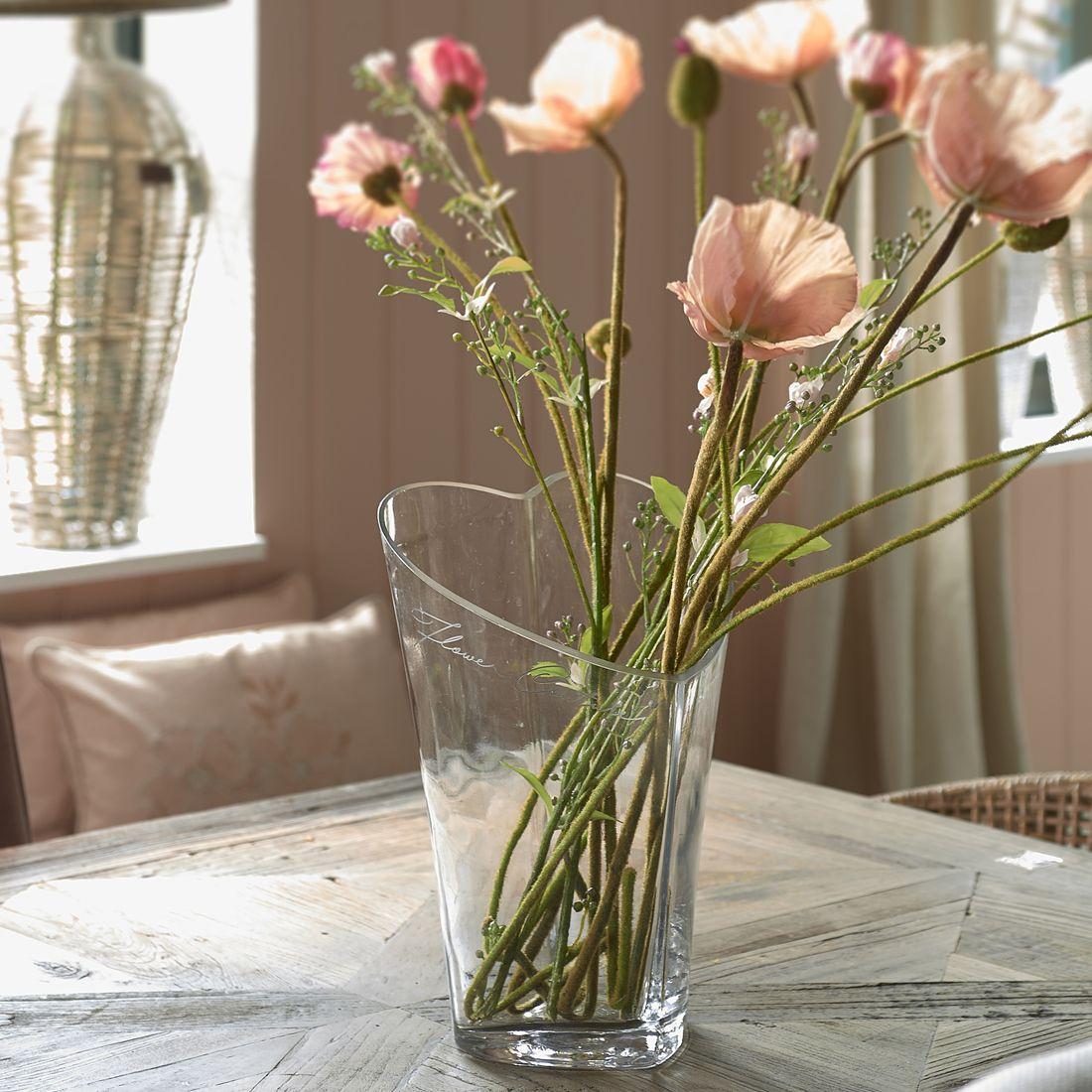 Glasvase - Lovely Heart Vase