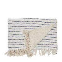 Plaid - Club Stripe Throw 170x130 sand UDSOLGT