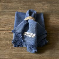 Stofserviet - Boho Basic Napkin nighttime blue