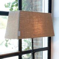 Aflang lampeskærm - Amsterdam Rectangular Lampshade flax 15x60