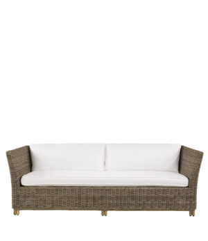 Artwood -  Arlington Rattan sofa, 3 pers. Inkl. hynder BESTILLINGSVARER