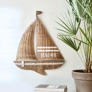 Båd, vægophæng - RR Sailing Boat Wall Decoration