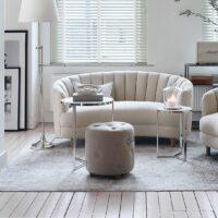 Fodskammel - Bowery Footstool, Linen Flax BESTILLINGSVARER