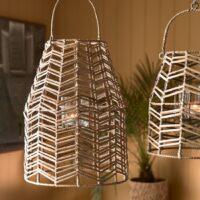 Hængelanterne - Sunset Breeze Herringbone Lantern M