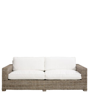 Artwood -  Hudson Rattan sofa, 3 pers. Inkl. hynder BESTILLINGSVARER