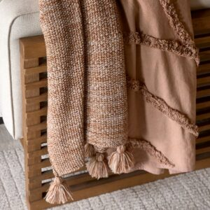 Plaid - Desert Knitted Throw 180x130 brown