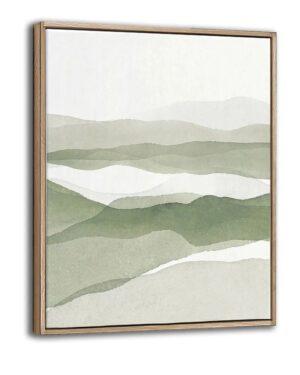 Billede - Green Abstract Landscape BESTILLINGSVARER