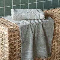 Håndklæde - Serene Towel stone 100x50