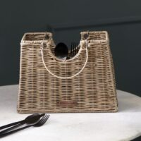 Bestikholder - Rustic Rattan Cutlery Bag