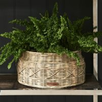 Plantekurv - Rustic Rattan Classic Planter Round