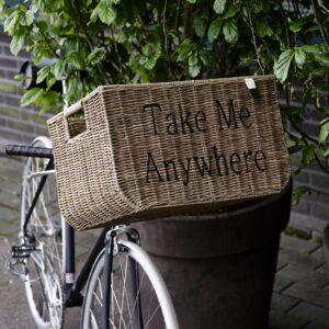 Cykelkurv - RR Bicycle Basket Take Me Anywhere