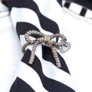 Servietring - Rustic Rattan Lovely Bow Napkin Ring