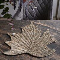 Dækkeserviet - Rustic Rattan Maple Leaf Placemat