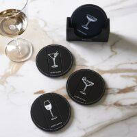 glasbrikker - Happy Drink Coasters 4 pieces