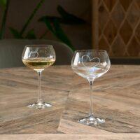 Hvidvin glas - With Love White Wine Glass