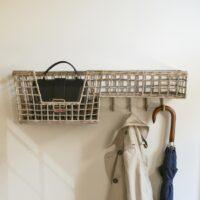 Knagerække - Rustic Rattan Elegant Basket Coat Rack