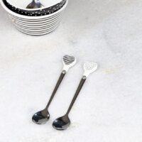 Teske sæt - Dots & Stripes Heart Spoons 2 pieces