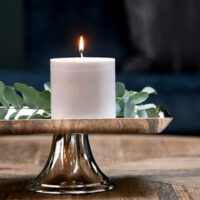Bloklys - Pillar Candle ECO flax 10x10