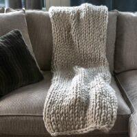 plaid - Brutal Knit Throw 150x130