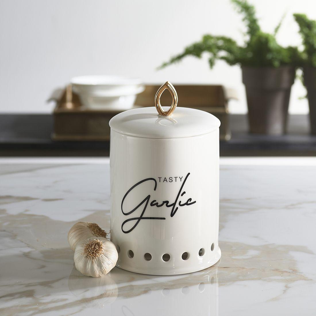 Hvidløg krukke - Tasty Garlic Storage Jar