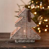 Juletræ - Rustic Rattan Lovely Trees Votive