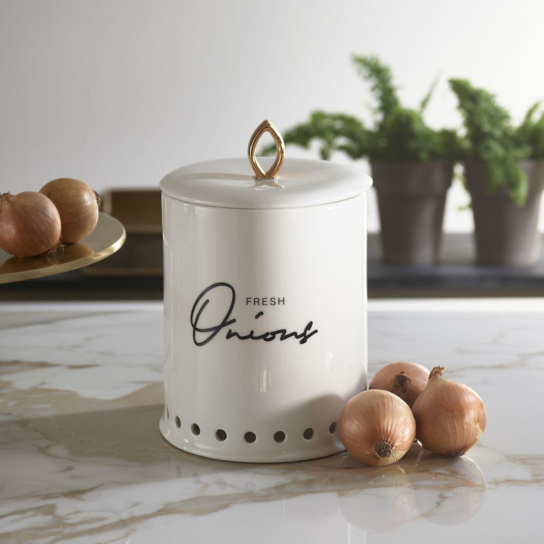 Løgkrukke -Fresh Onions Storage Jar