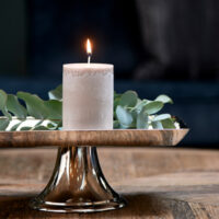 Bloklys - Pillar Candle ECO flax 7x10