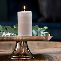 Bloklys - Pillar Candle ECO flax 7x13