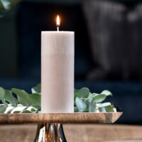 Bloklys - Pillar Candle ECO flax 7x18