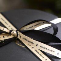 Sort og guld bånd - Sparkling Christmas Ribbon 5 Meters